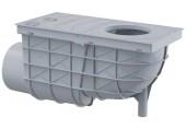 ALCAPLAST Univerzálny lapač strešných splavenín 300 × 155/110 bočné sivý AGV3S
