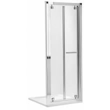 KOLO Geo-6 skladacie dvere 80 cm do niky, k bočnej stene číre / strieborná GDRB80222003