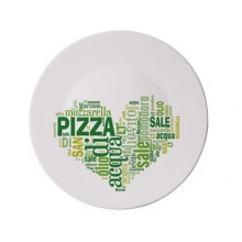 BORMIOLI Tanier PIZZA. 33cm Aj LOVE PIZZA GREEN 05419320F