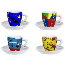BIALETTI Set Pop Art, šálky, 4ks 3010199315
