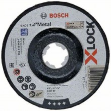 BOSCH X-LOCK Expert for Metal Brúsny kotúč, 125 × 6 × 22,23mm 2608619259