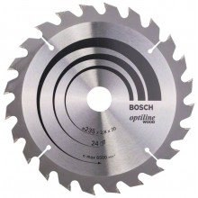 BOSCH Pílový kotúč Optiline Wood, 235 x 2,8/1,8 mm, 2608640725