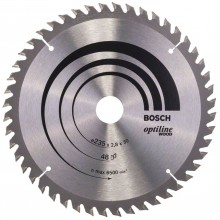BOSCH Pílový kotúč Optiline Wood, 235x2,8/1,8 mm 2608640727