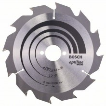 BOSCH Pílový kotúč Optiline Wood, 190x2,6/1,6 mm, 2608641187