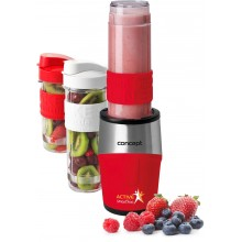 CONCEPT SM3386 SMOOTHIE MAKER Active 500W, 2 x 570ml + 400ml, červená sm3386