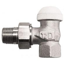 """HERZ TS-90-Termostatický ventil rohový 1 """", M 28x1, 5 biela krytka 1772493"""