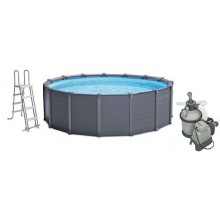 INTEX Bazén Graphite Panel Pool Set 478 x 124 cm, 28382GN
