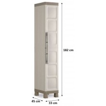 KIS EXCELLENCE HIGH 1 DOOR skriňa 33x45x182cm beige 9673000