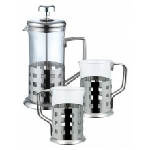 RENBERG French press 800ml nerez súprava 3 ks RB-3044
