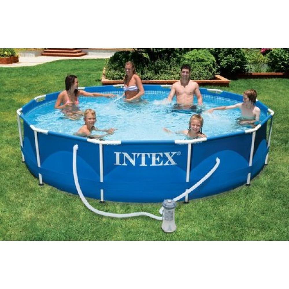 intex baz n frame pool set 305 x 76 cm 28212gn. Black Bedroom Furniture Sets. Home Design Ideas