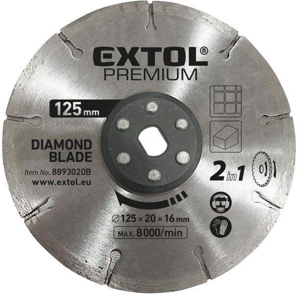EXTOL PREMIUM Kotúč rezný diamantový 125x20mm, pre 8893020 8893020B