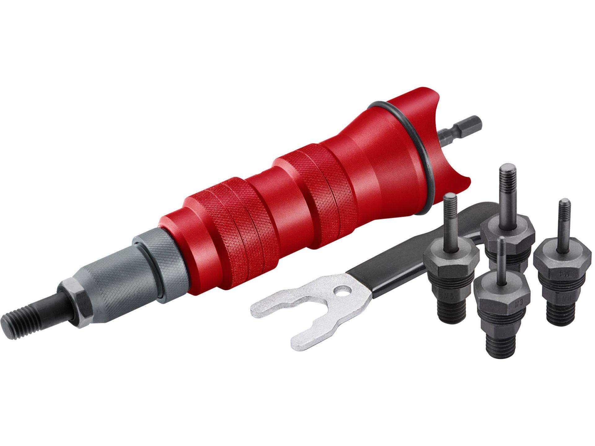 FORTUM nástavec nitovacie na vŕtačku pre nitovacie matice M3-M10 CrMo 4770654