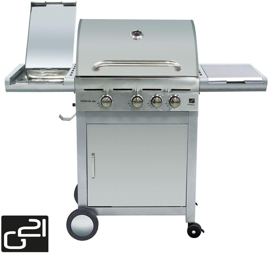 Plynový gril G21 California BBQ Premium line, 4 horáky 6390305